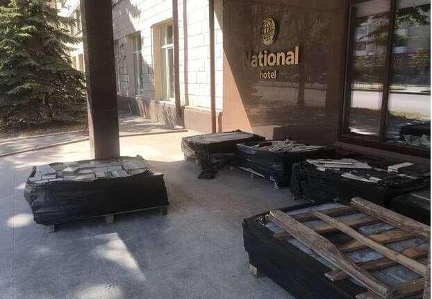 Появились кадры демонтажа знаменитого отеля «Националь»