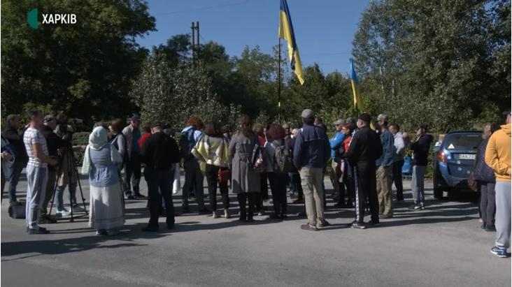 Харьковских газовиков пикетировали из-за отключений по области